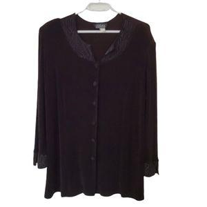 3/$25 Vintage black long sleeve tunic